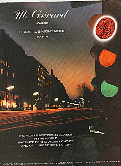 M. Gerard, jeweler, Paris ad 1977 (Image1)