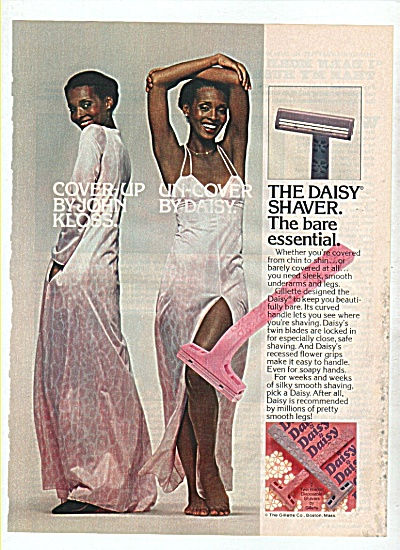 The Daisy Shaver Ad 1977