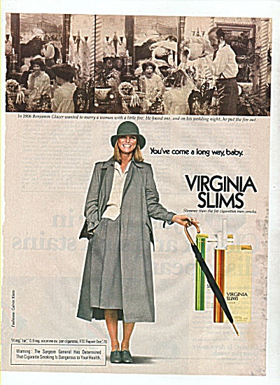 Virginia Slims - CHERYL TIEGS  ad 1977 (Image1)