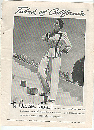 Tabak of California ad 1945 (Image1)