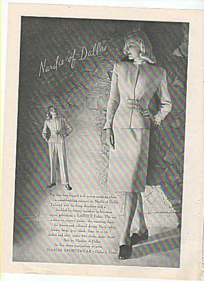 Nardis Of Dallas Ad 1945