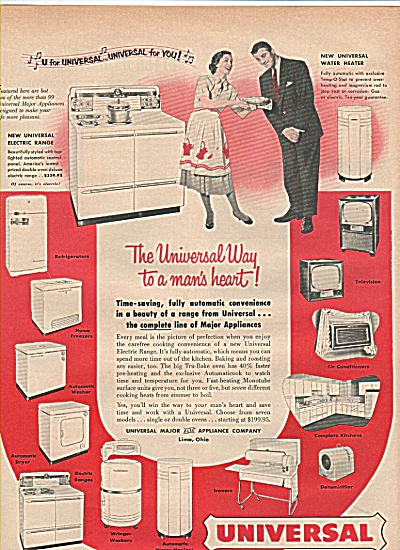 Universal Appliances Ad 1952