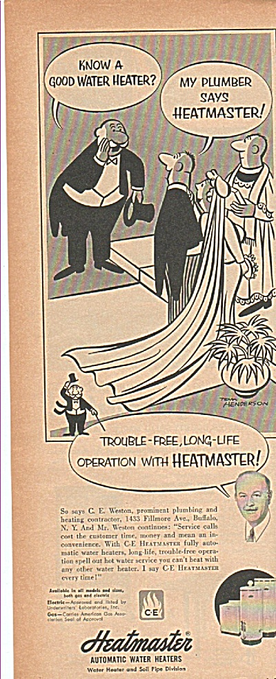 Heatmaster Automatic Watert Heaters Ad1952