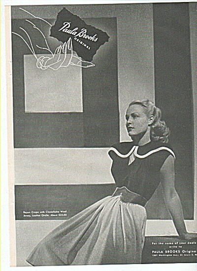 Paula Brooks Originals Ad 1945