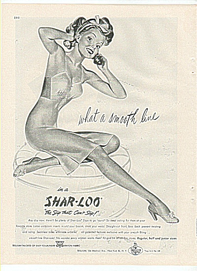 Shar-loo Slip Ad 1945 Pin Up Art
