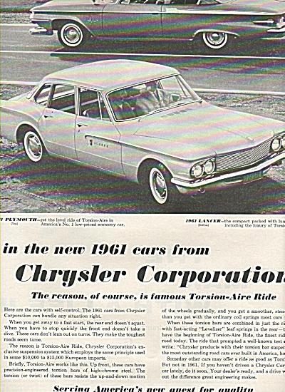 Chrysler Corporation  cars ad 1961 (Image1)