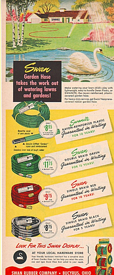 Swan Rubber company - hoses ad 1952 (Image1)