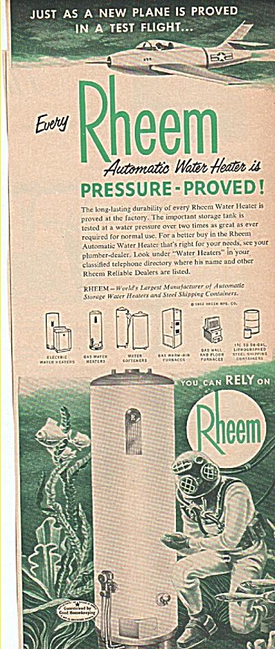 Rheem water heater ad 1952 (Image1)