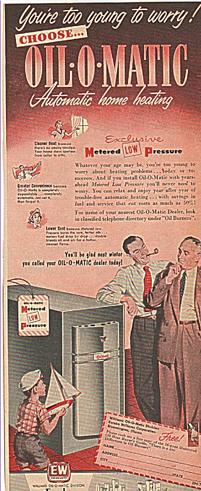 Eureka Williams oil-o-matic home heating ad (Image1)