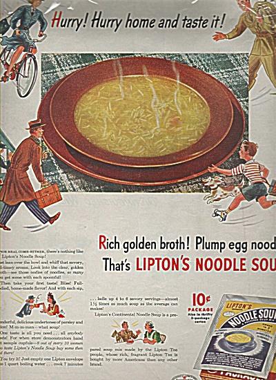 Lipton's noodle soup ad 1944 (Image1)
