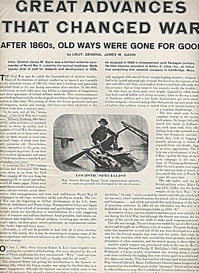 CIVIL WAR - advances that changed it 1961 (Image1)