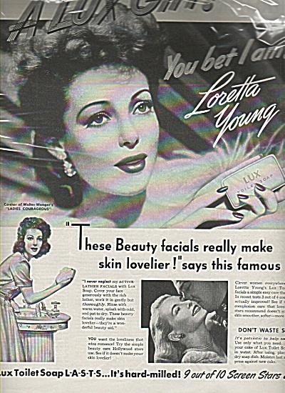Lux soap -  LORETTA  YOUNG  - ad 1944 (Image1)
