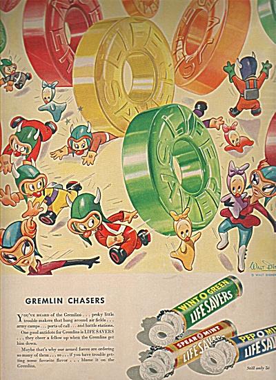 Life Savers ad - Walt Disney characters ad 1943 (Image1)