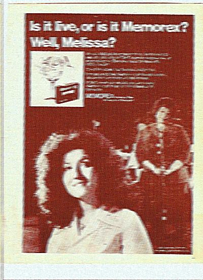 Memorex recording tape ad -MELISSA MANCHESTER (Image1)