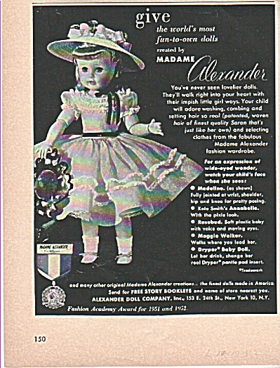 Madame Alexander doll ad 1953 (Image1)