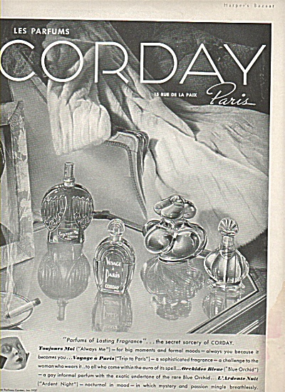 Corday Les Parfums Ad 1937