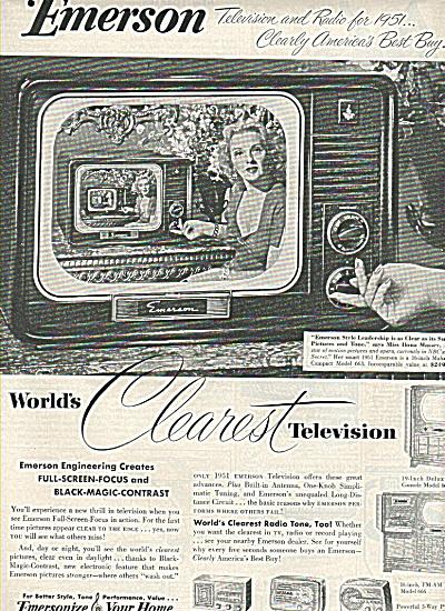 Emerson television - ILONA MASSEY ad 1950 (Image1)