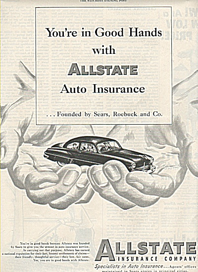 All State Insurance Company Ad 1950