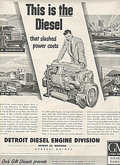 Detroit Diesel Engine Division ad 1950` (Image1)