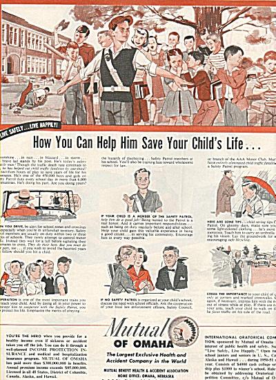 Mutual of Omaha insurance ad 1950 (Image1)