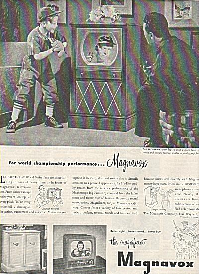 Magnavox television ad 1950 (Image1)