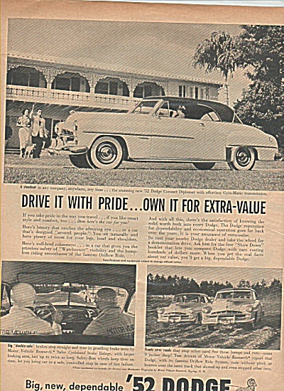 Dodge auto 1952 ad (Image1)