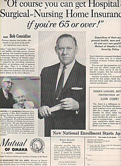 Mutual of Omaha - BOB CONSIDINE ad 1960 (Image1)
