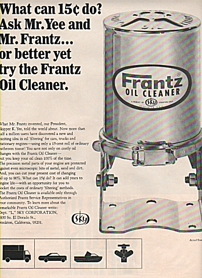 Suzuki motorcycles ad 1965 - Frantz Oil cleaner (Image1)