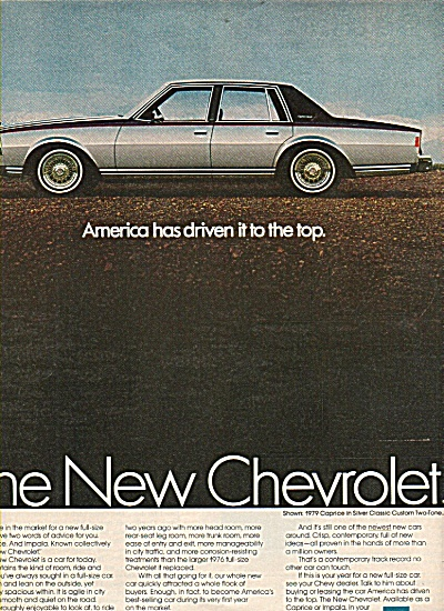 Chevrolet Caprice for 1979 shown in ad (Image1)