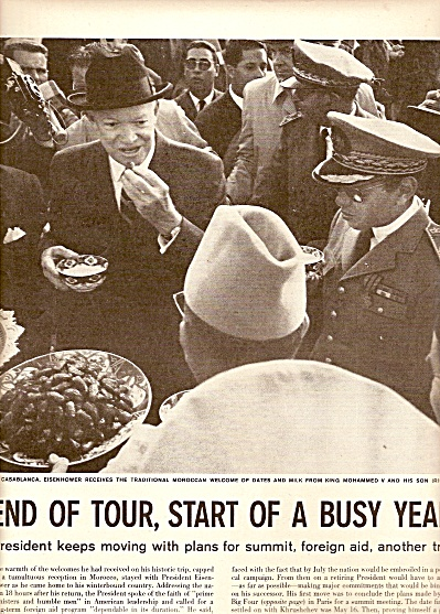PRESIDENT EISENHOWER  on tours - 1960 (Image1)
