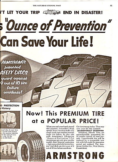 Armstrong miracle tires ad 1954 (Image1)