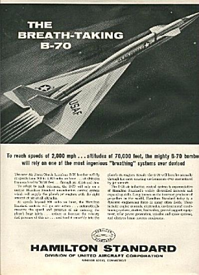 1960 USAF Air Force B-70 Bomber Aircraft AD (Image1)