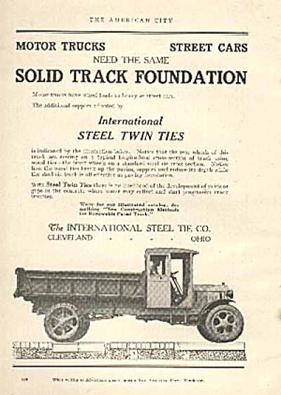 1926 International Steel Truck TRADE AD (Image1)