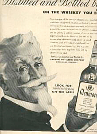 1954 Glenmore Southern Colonel Whiskey Ad