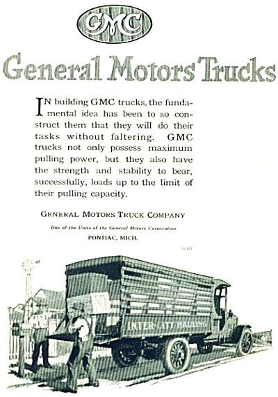 General Motors Trucks AD -  1920 Vintage (Image1)