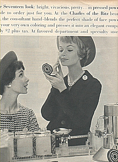 1958 Charles Ritz AD MODEL Heather HEWITT (Image1)