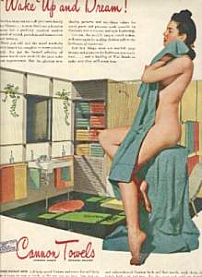 1944 Cannon Towel Nude Woman AD (Image1)