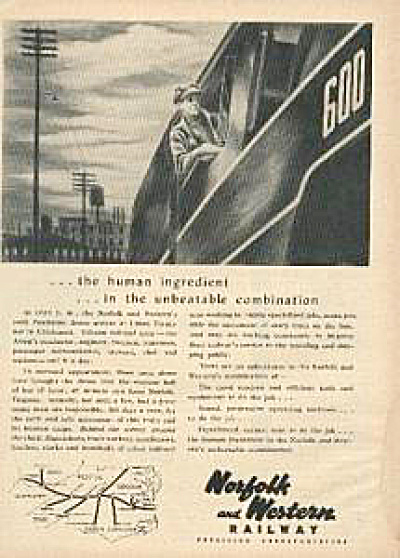 1949 Norfolk and Western Railway AD (Image1)