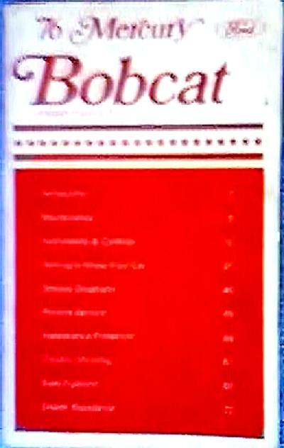 ORIGINAL 1976 Mercury BOBCAT Owner's Manual (Image1)