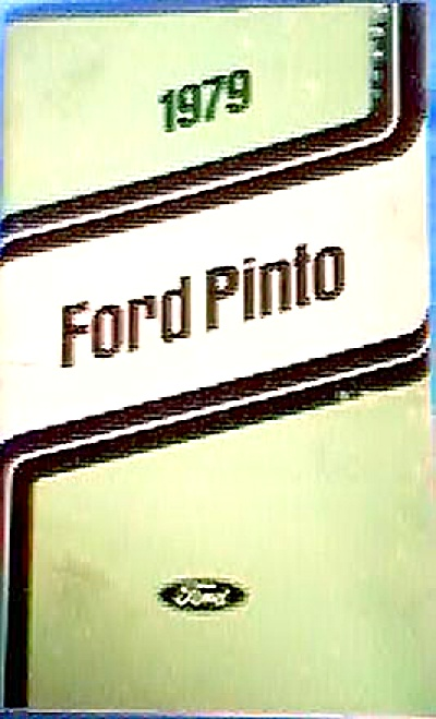 ORIGINAL 1979 Ford Pinto Owner's Manual (Image1)