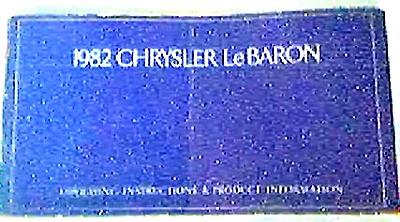 ORIGINAL Chrysler LeBaron Owner's Manual (Image1)