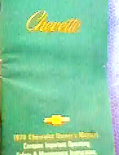 ORIGINAL 1979 Chevy CHEVETTE Owners Manual (Image1)