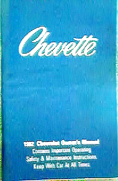 Original Chevy Chevette 1982 Owners Manual (Image1)