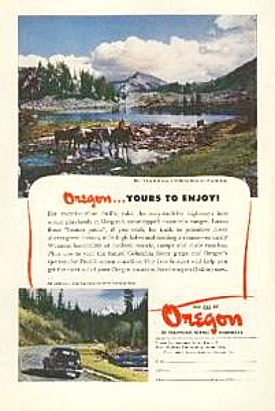 1947 Travel To Oregon Wallowa Mt. AD (Image1)