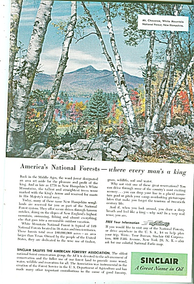 Sinclair Oil Ad 1956
