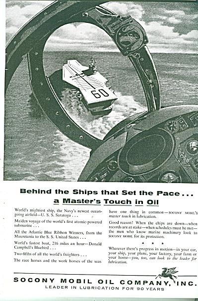 Socony Mobil Oil Company ad 1956 (Image1)