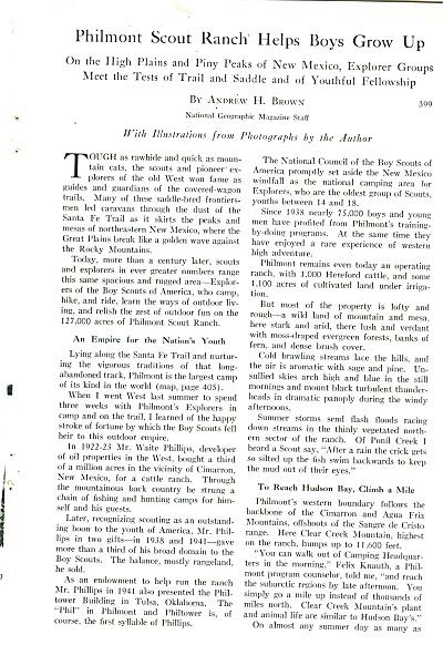 PHILMONT SCOUT RANCH 1956 (Image1)