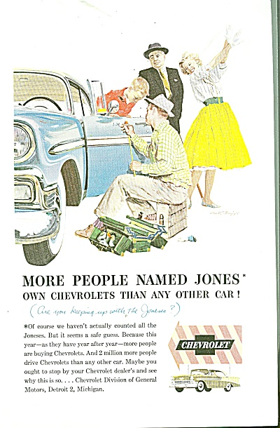 Chevrolet automobile ad 1956 (Image1)