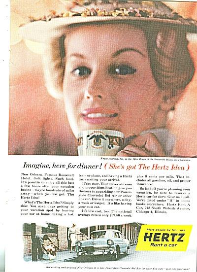 Hertz rent a car ad 1956 (Image1)