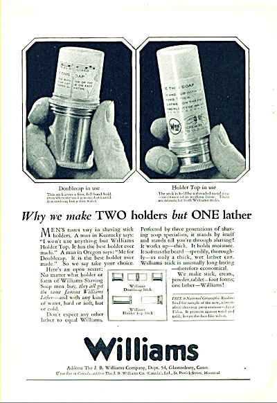 Williams shaving stick ad 1925 (Image1)